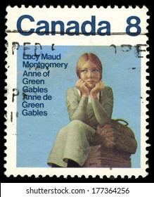 CANADA - CIRCA 1975: A stamp printed in Canada shows Anne of Green Gables by Lucy Maud Montgomery, circa 1975