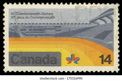 CANADA - CIRCA 1978: A stamp printed in Canada shows image of The 1978 Commonwealth Games were held in Edmonton, Alberta, Canada, from 3 to 12 August 1978, circa 1978.