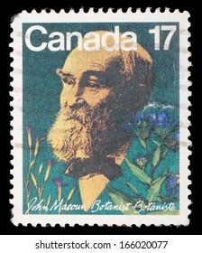 CANADA - CIRCA 1981: A stamp prointed in Canada shows botanist John Macoun, circa 1981