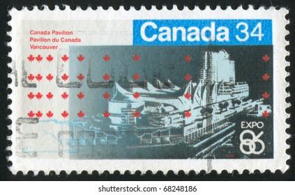 CANADA - CIRCA 1986: stamp printed by Canada, shows city, circa 1986
