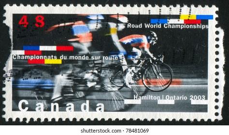 CANADA - CIRCA 2003: stamp printed by Canada, shows 2003 Road Cycling World Championships, Hamilton, circa 2003