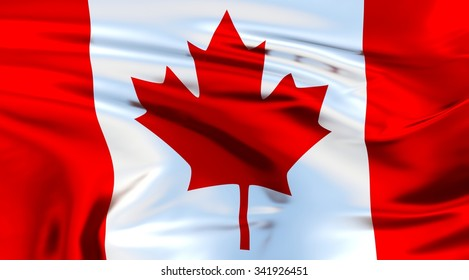 Canada Flag. 3d illustration