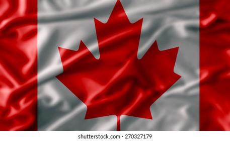 Canada flag fabric texture