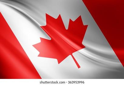 Canada flag of silk