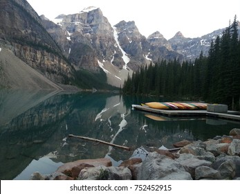 Canada Mountains and Boats