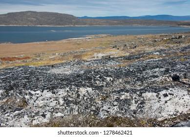 Canada, Nunavut, Qikiqtaaluk Region, Kekerten Island. Kekerten Historic Park, Penny's Harbor. .