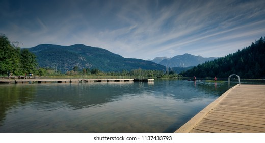Canada One mile lake BC Sep16.2017 is one of pemberton's special meeting spots that offers spectaculars walking trails and fishing summer  swimming wintertime skating