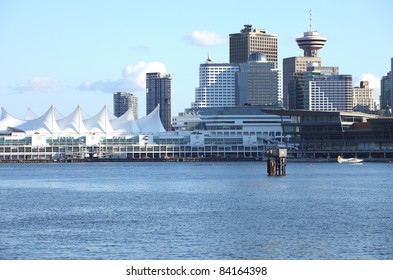 Canada Place, port of entry for cruise ships in Vancouver BC., Canada.