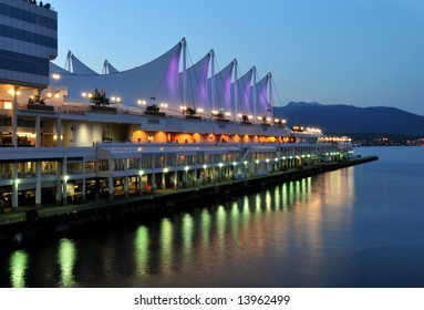 Canada Place at twilight, Vancouver, Canada