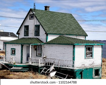 Canada, Province of Quebec, Lower North Coast, Village of Harrington Harbor, ugly house from the movie The Grand Seduction