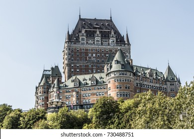 Canada Quebec City - the Chateau Frontenac most famous tourist attraction UNESCO World Heritage Site