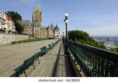 Canada, Quebec, Frontenac castle
