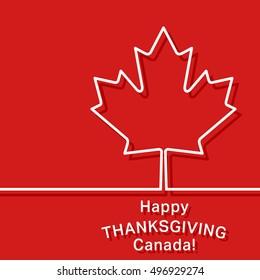 Canada thanksgiving card. Canadian maple leaf symbol. Cover brochures, flyer, card design template. illustration