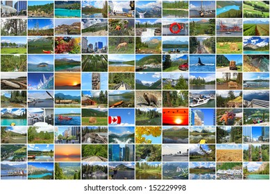 Canada vacation collage photos