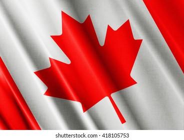 Canada waving flag close