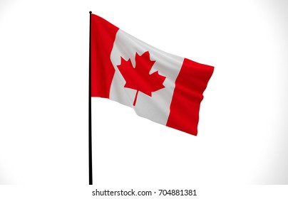 Canada, Wavy Canada Flag, Country Flag, 3D Render