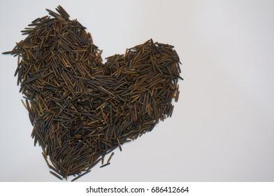 Canada Wild Rice in Heart Shape