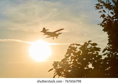 Canadair airplane on duty