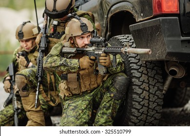 Canadian Army rangers during the military operation