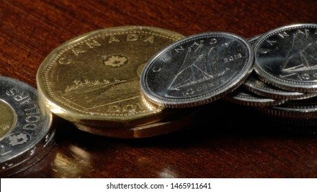 Canadian Coins - Loonies, Twonies, Quarters and Dimes