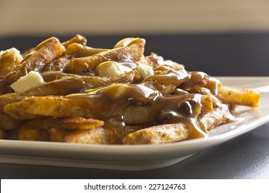 Canadian cuisine, Poutine, gravy, french fries, and cheese curd