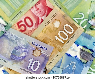 Canadian currency bank notes money