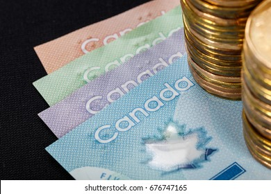 Canadian Dollar, concept of business and finance