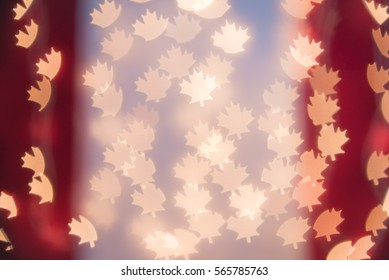Canadian flag bokeh background. Modern, abstract flat design for card or website.