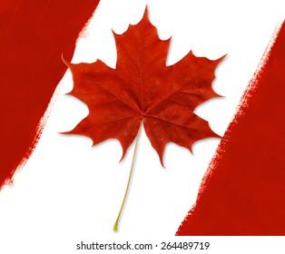 Canadian Flag Diagonal