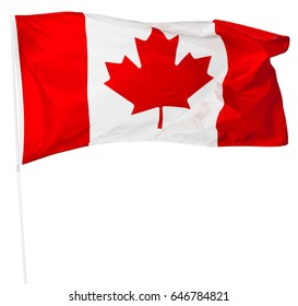 Canadian Flag isolated on white