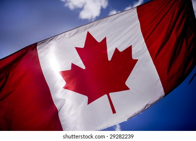 Canadian flag is tattered as Canadian troops