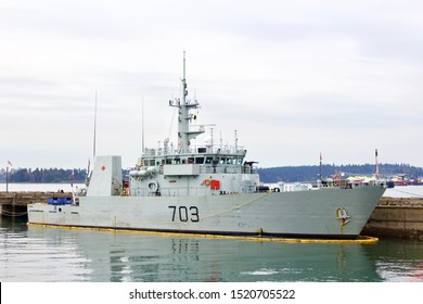 Canadian Forces Royal Canadian Navy Frigate HMCS Edmonton.  North Vancouver, BC/Canada/Oct 2nd 2019