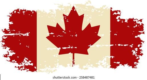 Canadian grunge flag. Raster version