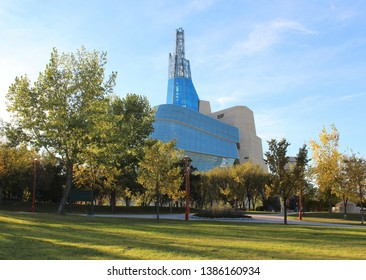 The Canadian Museum of Human Rights in Winnipeg, Manitoba - September 22, 2016.