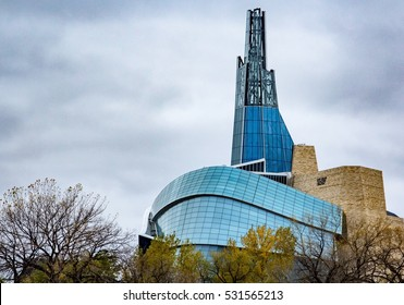 The Canadian Museum of Human Rights in Winnipeg, MB