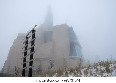 Canadian Museum for Human Rights in winter