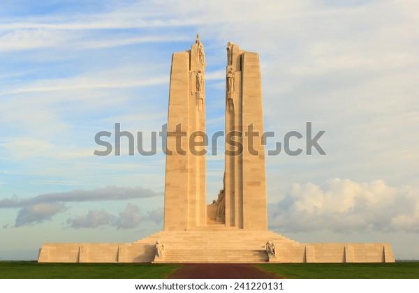 Monumento nacional canadiense Vimy Ridge en Francia