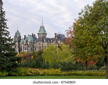 The Canadian Parliament East Block seen from Major's Hill Park.
