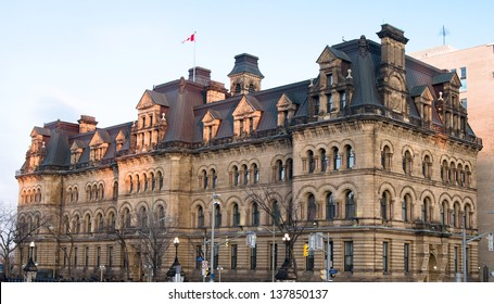 The Canadian Parliament Langevin Block, office of the Prime Minister of Canada (PMO) in Ottawa, Canada.