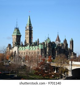 Canadian Parliament and Rideau canal Ottawa Canada