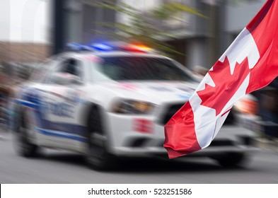 Canadian Police car with  motion effect applied