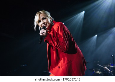Canadian Pop singer songwriter carly rae jepsen, performing live at o2 victoria warehouse manchester uk, 7th febuary 2020