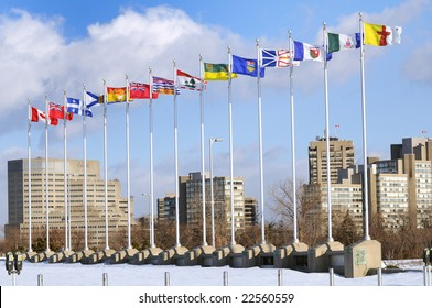 Canadian and Provinces Flags - Ottawa Ontario