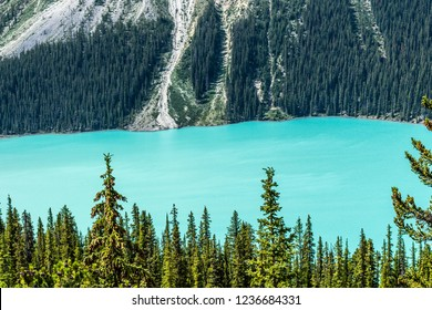 Canadian Rockies glacial lake blues.