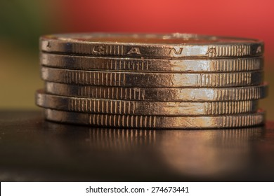 Canadian Stack of  One Dollar Coins - Loonies
