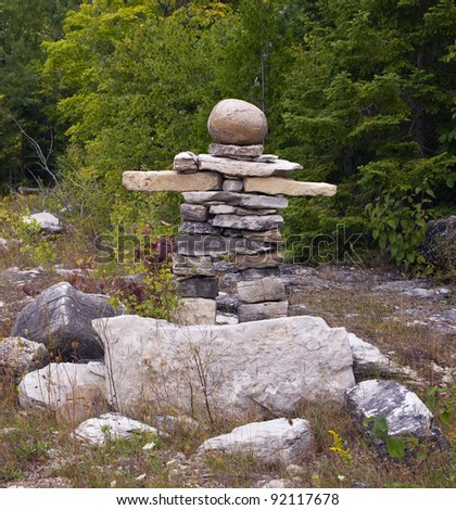 Canadian Symbol Inukshuk Made Stones Stock Photo Edit Now 92117678