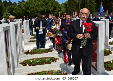 CANAKKALE, TURKEY - APRIL 24, 2017:,Turkish  Minister of culture Nabi Avci Attended the ceremony