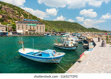 CANAKKALE, TURKEY - AUGUST 20, 2017: ASSOS (Behramkale) is a small historically rich town in the Ayvacik district of the Canakkale Province, Turkey.