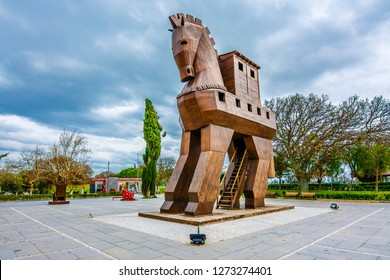 Canakkale, Turkey - February 10, 2016 : The Trojan Horse is a tale from the Trojan War about the subterfuge that the Greeks used to enter the city of Troy and win the war.