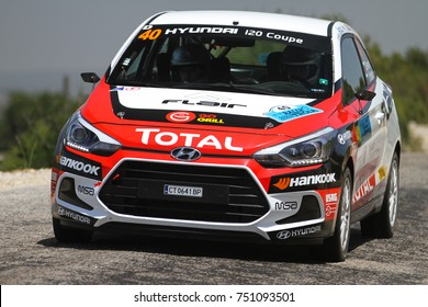 CANAKKALE, TURKEY - JULY 02, 2017: Simeon Simeonov drives Hyundai I20 Coupe in Rally Troia